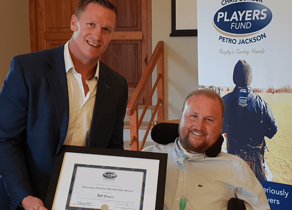 Rugby's red carpet rolled out for UK legend – Matt Hampson