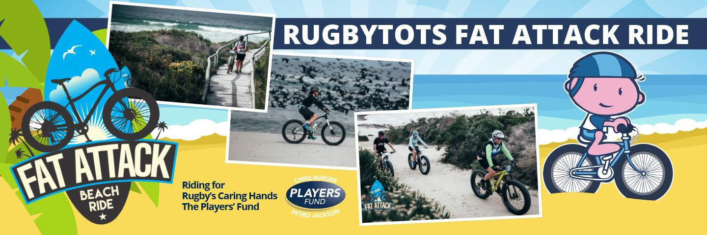 Rugbytots Fat-Attack beach ride raising money for the Springbok's official charity
