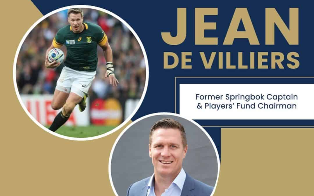Dr Dean Allen in conversation with Jean de Villiers
