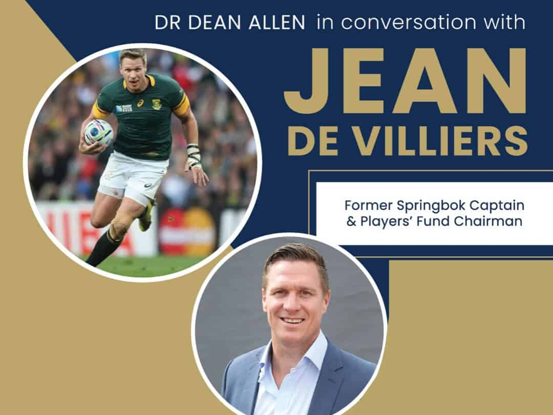 Dr Dean Allen in conversation with Jean de Villiers