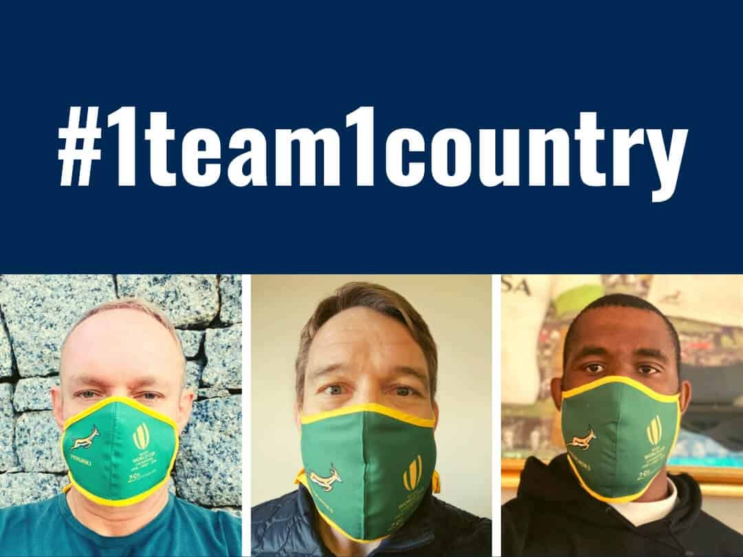 #1team1country – 25th Anniversary Springbok Supporters' Masks
