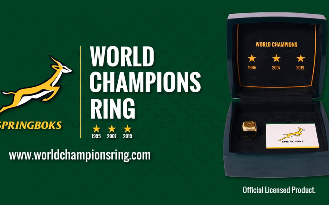 Springbok World Champions Ring supports the Players' Fund
