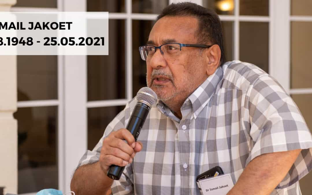 Tribute to Dr Ismail Jakoet